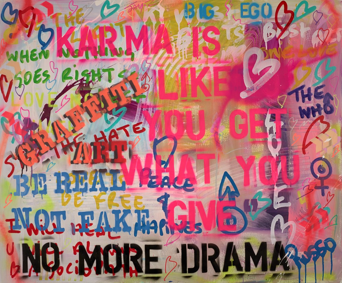 Karma is like Love by antonio russo -  sized 47x39 inches. Available from Whitewall Galleries